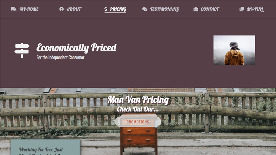 Man with A Van - Pricing